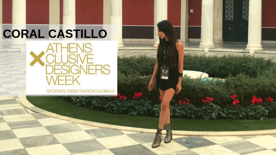 Coral Castillo at Athens Exclusive Designers Fashion Week.